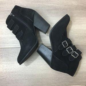 XOXO Black High Heel Platform Ankle Boots